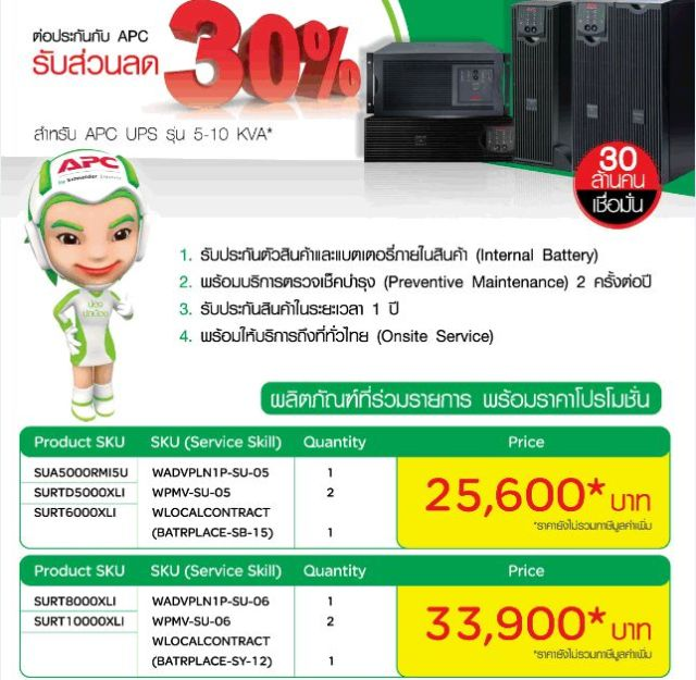 UPS extented warranty promotion(5kVA-10kVA)-Valid 30 Jun 15